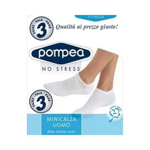 Calze Uomo Pompea no stress 3 paia minicalza uomo - Intimo Altieri Shop online Salerno